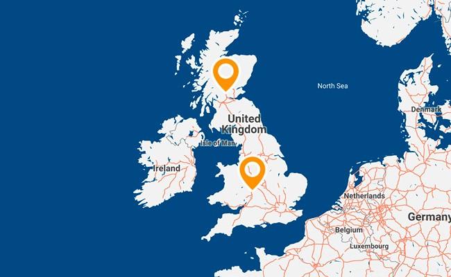 Aquabio Map Scotland Office